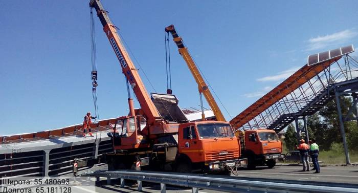 На трассе Челябинск – Курган обрушился мост