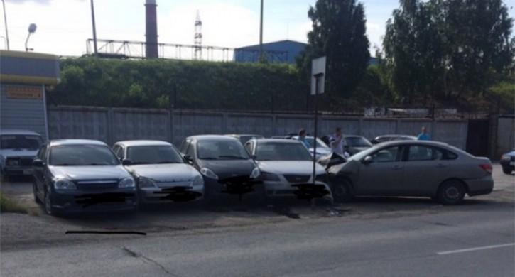 В Челябинске в ДТП пострадали 8 автомобилей