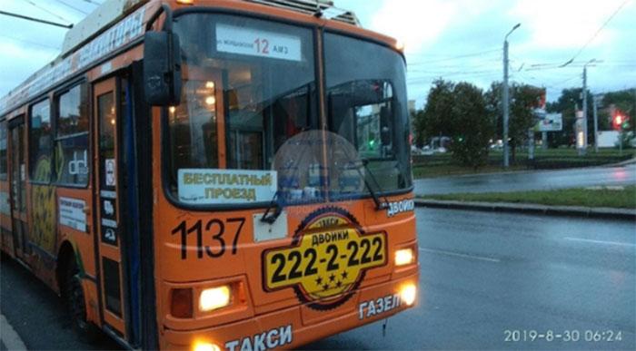 В Челябинске троллейбус бесплатно возит пассажиров