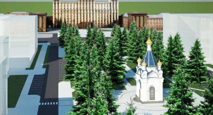 Строительство часовни напротив ЮУрГУ в Челябинске приостановлено