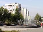 Один из объектов УПИИ «ВНИПИЭТ» – фонтан в Озерске, на проспекте К. Маркса