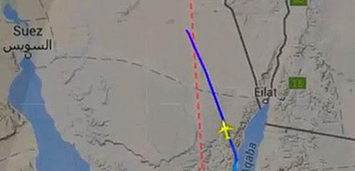 В сети появился маршрут полета