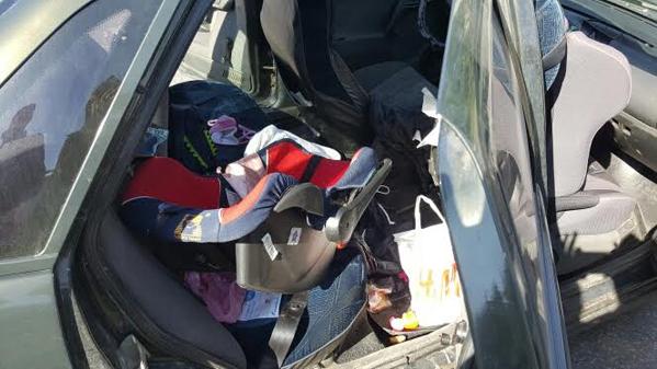 При столкновении 2-х машин пострадали годовалая девочка иеесемилетний брат