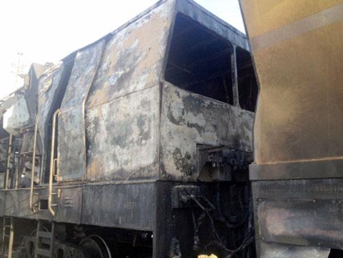 Железнодорожно-строительный поезд изЧелябинска зажегся под Курганом
