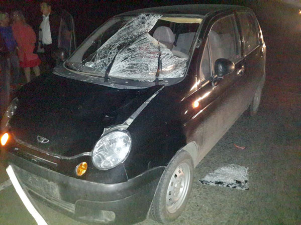 Женщина наMatiz сбила двоих пешеходов надороге под Южноуральском