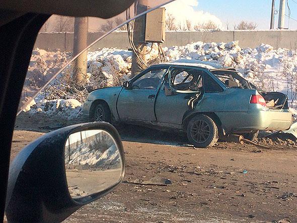 Вгороде Челябинске при развороте умер шофёр иномарки
