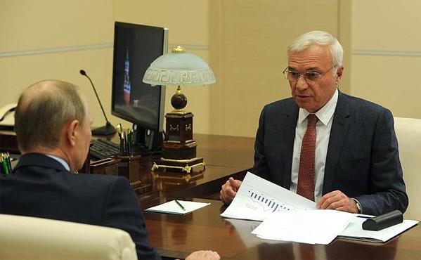 Владимир Путин провел рабочую встречу сглавой Магнитогорского металлургического комбината