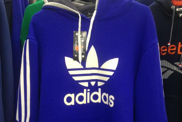 Поддельный Adidas иReebok конфискованы