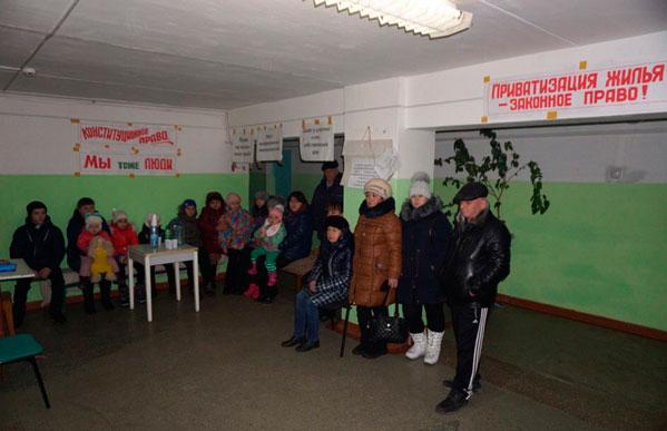 Объявившие голодовку жильцы общежитий вЧелябинске начали падать вобморок