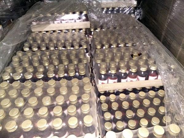 Практически 500 тыс. бутылок «Боярышника» изъяли полицейские наЮжном Урале