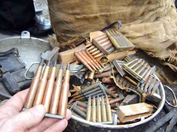 Челябинка отыскала вподвале своего дома боеприпасы