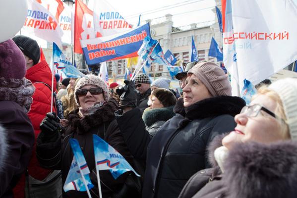 «Крымская весна» вЧелябинске собрала около 6 тыс. человек