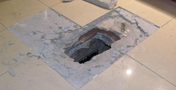 ВЧелябинские неизвестные ограбили банк через пробитый пол