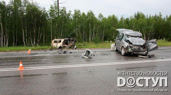 НаЮжном Урале обгорел шофёр «скорой помощи», протараненной иномаркой