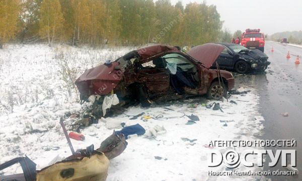 ВЧелябинской области встолкновении 2-х иномарок умер человек