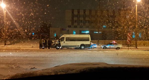 Два пассажира маршрутного такси пострадали вкрупном ДТП вЧелябинске