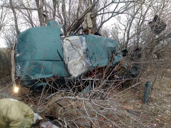 Автомобиль БМВ слетел с дороги - умер шофёр ипассажирка