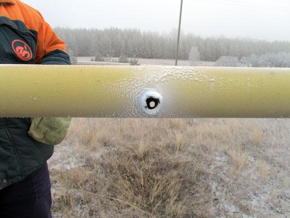 Стрельба угазопровода высочайшего давления оставила без газа деревню вЧелябинской области