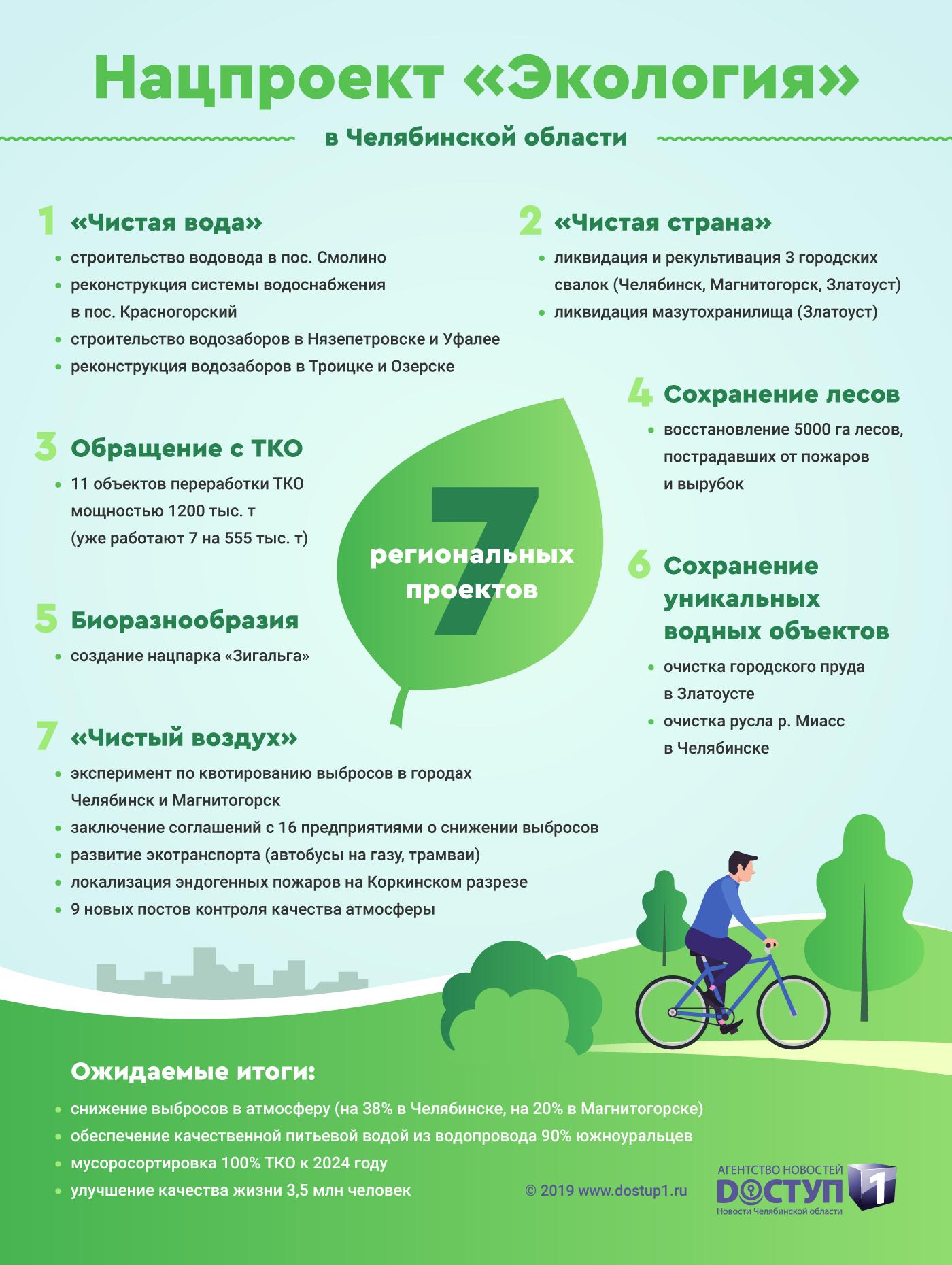 Ключевой нацпроект для Челябинской области – «Экология»