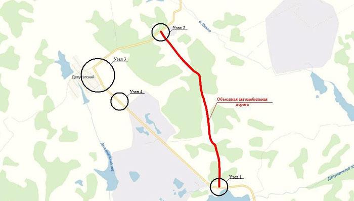 В Челябинской области возникла угроза обрушения дороги в карьер