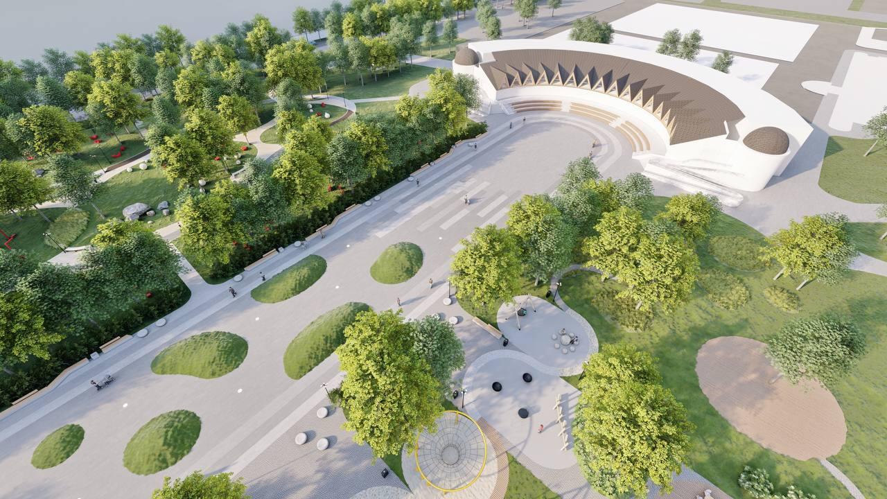 Управление архитектуры показало проект нового парка в Челябинске